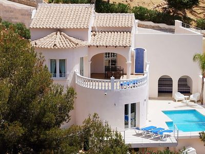Photo for Apartment for up to 6 guests with private pool and sea view