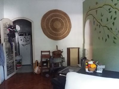 Photo for Bedroom, front, double bed, morning sun. Near PUC.
