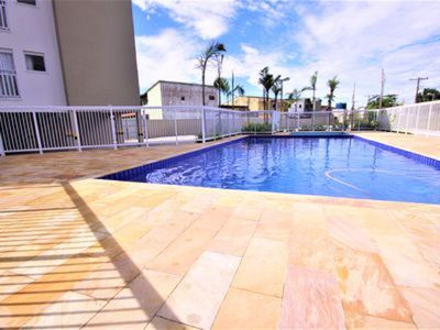 Photo for Apartment NEW for 6 people, cond with pool, churrasq, playground, block
