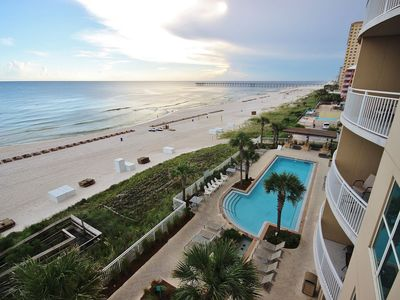 Tranquil Oceanfront Escape near Pier Park with Amazing Views at First Class Aqua!