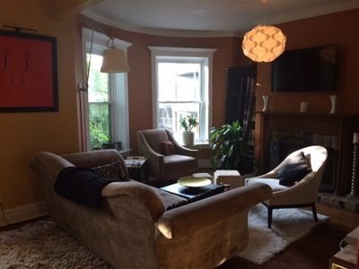 Photo for Monthly rentals for charming vintage brownstone with parking space