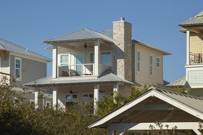 Designer Inlet Beach home only a 2 minute walk to the sand