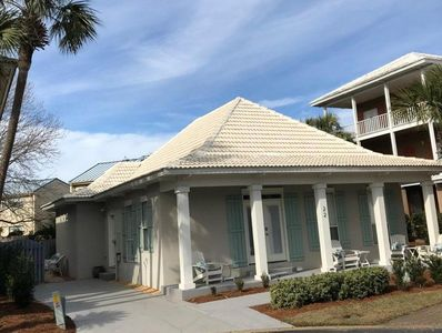Sea Fan Cottage has a driveway for 2 cars, side patio and large front porch