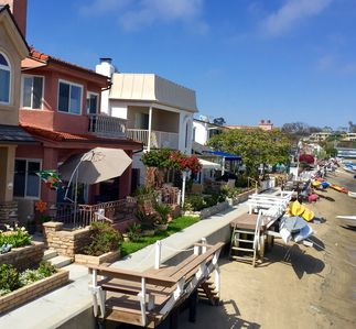Photo for Balboa Island Large Waterfront Home w/Roof Patio and Private Boat Dock