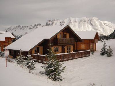 Photo for Chalet of charm all wood 400 m from the slopes