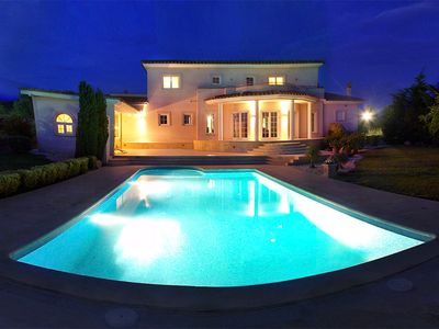 Photo for Stunning private villa with A/C, private pool, WIFI, TV, balcony, pets allowed and parking