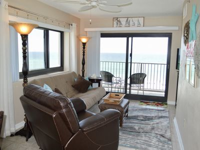 Photo for Beachy gulf-front condo with stunning gulf-front views! In-unit washer/dryer! Steps to beach!