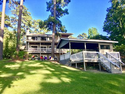 Photo for Sleeps 26....Waterfront Lakehouse on Lake Sam Rayburn. Unbelievable views!