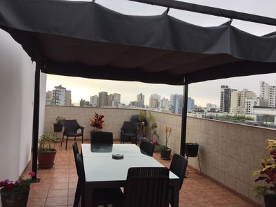 Rooftop Terrace with views of the sunset and city. Great place to entertain.