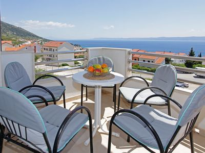 Photo for Amazing sea view 1BR apt for 4•parking•AC - Vespera 10