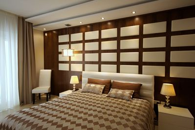 Very luxurious main double bedroom with ensuite