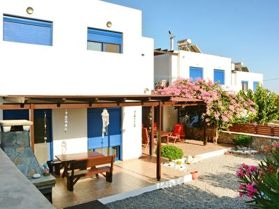 Photo for This 4-bedroom villa for up to 8 guests is located in Lindos and has a private swimming pool, air-co