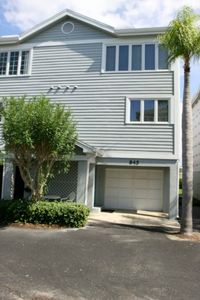 Your 2 story Villa has a private garage. Bay Views from the back balcony.