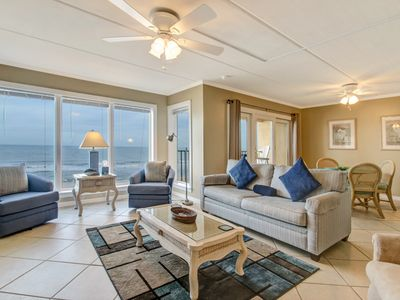 Photo for Top floor unit, 2 Bed/2 Bath Oceanfront condo that has spectacular ocean views and sunrises. This condo sleeps 6.