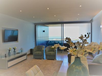 Photo for Luxury Sea View Apartment, walking to beach, pools, gym & sauna