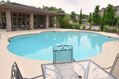 Beautiful pool and club house conveniently located across from the townhouse!