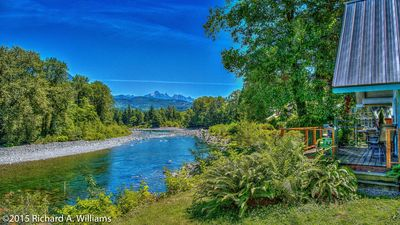 Photo for CLEAN SAFE HAVEN on Skykomish river breathtaking views for a change in scenery