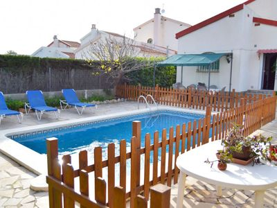 Photo for 4 bedroom Villa, sleeps 8 in Las Tres Cales with Pool, Air Con and WiFi
