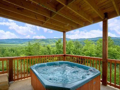 Photo for Enjoy amazing views in your private luxury cabin with Home Theater Room!