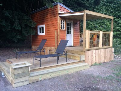 Photo for Newly completed rustic tiny house in Boston bar the heart of the Fraser Canyon