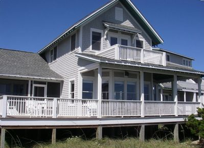 Front View of House...great ocean views from the expansive porches