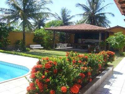 Photo for Beach house duplex 20m from the beach with pool, barbecue and official pool