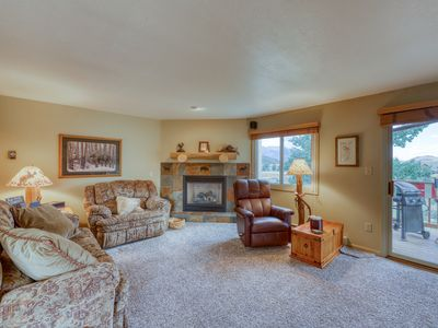 Photo for Mountain condo w/ private W/D, balcony w/ gas grill & seating