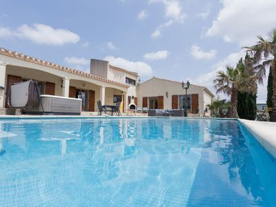 Photo for Lively Villa in Félines-Minervois with Pool