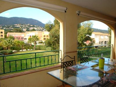 Photo for CHA15. Air-conditioned apartment for 6 people, domain with swimming pools and tennis