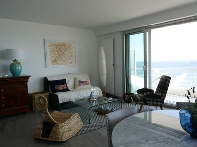 Photo for T3 upscale, seafront, terrace 30m2