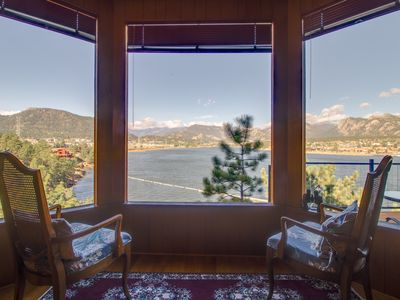 Photo for NEW LISTING! Waterfront home w/ lake views, balconies, games & outdoor picnic