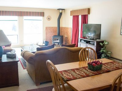Photo for Reduced winter rates! Cozy 2-bedroom condo with Lake Fork River views, walk to ski lifts