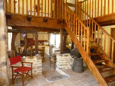 Photo for Beautifully renovated barn with views of the Dordogne countryside