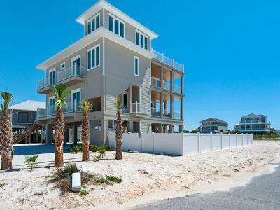 Photo for Gorgeous 6 bed/6 bath  home sleeps 25 and has spectacular gulf views!