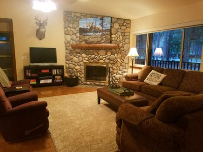 Photo for Cavanaugh Bay Cabin - Beautiful home with excellent lake and public land access