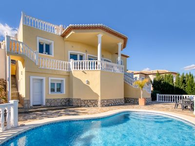 Photo for Beautiful private villa for 6 people with A/C, WIFI, private pool, TV, balcony and parking