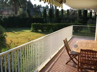 Photo for Superb quiet residence in a green area near sandy beach