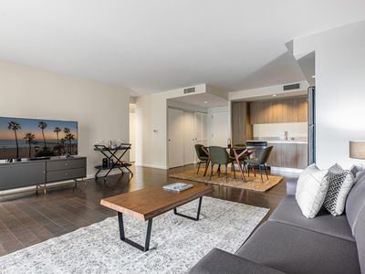 Photo for Snazzy Koreatown 1BR w/ Pool, Gym, near Wilshire & Metro, by Blueground