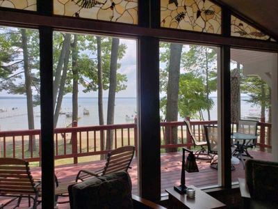 Photo for Spectacular UpNorth Cabin DIRECTLY ON HIGGINS LAKE- 3 Bedroom beauty on the lake