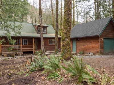 Photo for Barlow Trail Cabin- close to sandy ridge trail,New Hot Tub -Propane Fireplace