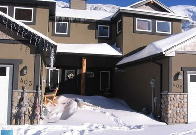 """Front of condo....can you see the """"snow angel?'"""
