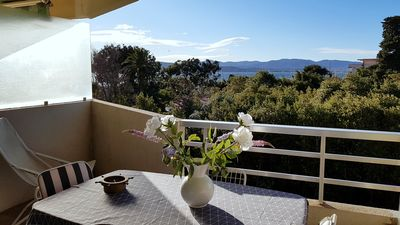 Photo for Nice glimpse sea for this great crossing T2 ranked 2 *. Wifi, swimming pool, parking