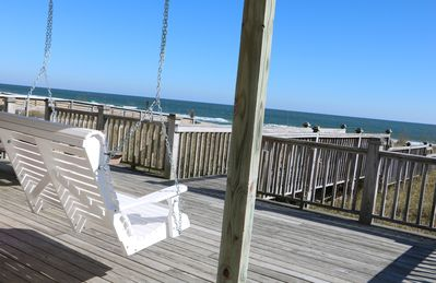 Photo for 9/5-12 DEAL:3BR/2BA NICE OCEANFRONT KURE BEACH HOUSE:Private Access,Swing,WIFI!