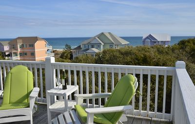 Photo for 2nd Row duplex w/ocean views, beach boardwalk, hot tub!