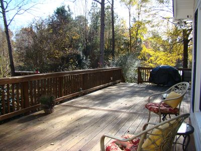 Back Deck with Gas Grille