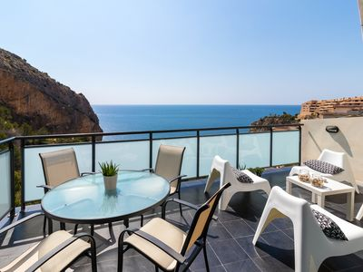 Photo for Oceanic Mascarat 22, Peaceful townhouse with sea views in Mascarat