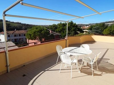 Photo for N28 - Numana, large three-room apartment with terrace overlooking the sea