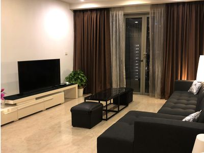 Flat screen TV with movie streaming using our high speed wifi