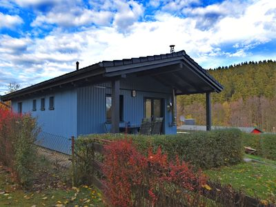 Photo for Cosy holiday home in Güntersberge/Harz with wood stove and two terraces