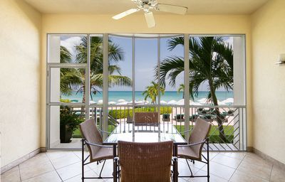 Photo for Beautiful 2 Bedroom 2 Bath Oceanfront Unit On 7 Mile Beach with Free WIFI